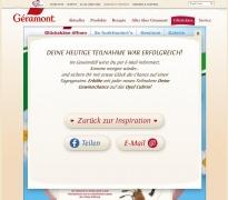 Geramont Gewinnspiel Danke Screenshot 2015